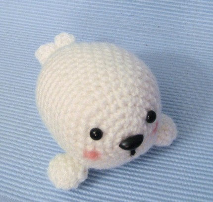 Stitch Amigurumi Crochet Pattern : A cute amigurumi baby seal - A cute crocheted baby seal ...
