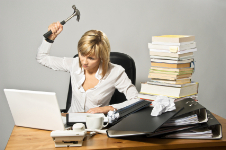 Online classes - This can be you if you take online classes. A whole lot of frustration and impatience.