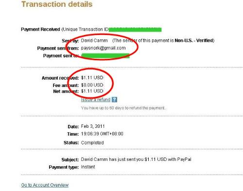 First payment from Paysnork. - First payment from paysnork in just 1 day!