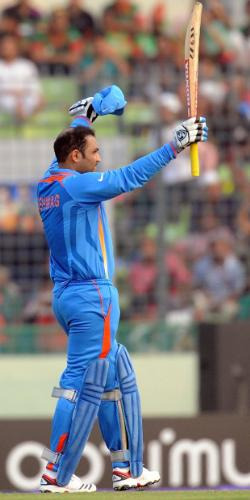Brilliant Knock by Viru - What a kNow that is by Viru on Opening game of WC2011