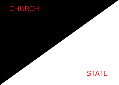 Church & State - The United States is a secular nation based on separation of Church & State.