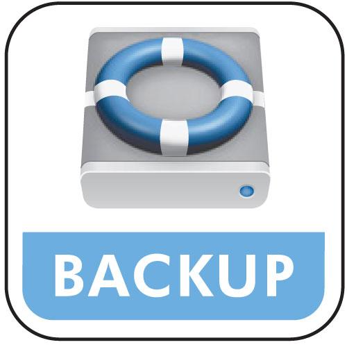 Backup - The life saver backup logo