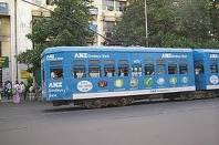 trams - the only city in india where trams ply on the roads