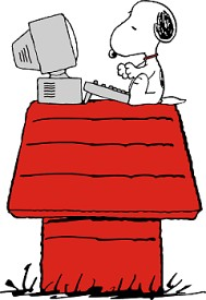 snoopy - working at home