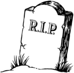 r.i.p. - A tombstone, symbol of death