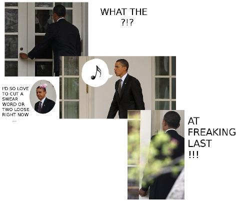 Locked Out - US President Barack Obama was locked out of his Whitehouse by staff who were not told he was not returning home at a certain time. What was funny was the whole bit was caught on the ever watching eye of the camera.