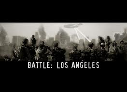 Battle: Los Angeles - this movie is about the aliens draining the water on earth to make as fuel for their spaceship. soldiers fought the aliens and destroyed their communication station located in the heart of Los Angeles.