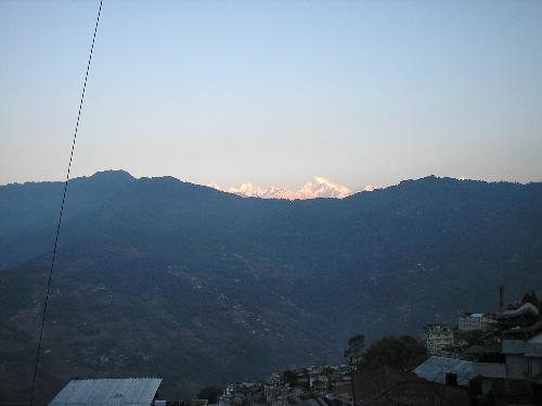 good morning gangtok - the sunrise in gantok on the Kanchenjunga