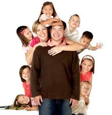 A crowded family - There is a crowded family