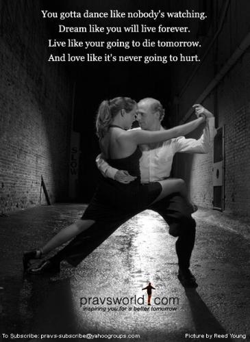 Love - Like it'll never hurt.