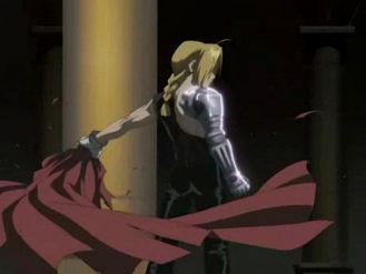 Fullmetal Alchemist Edward - Fullmetal Alchemist. Edward ripping off his cape.