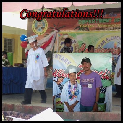 at last!  - After 6 years in Elementary Level, my little brother has finally graduated! He'll be high school by June soon!
