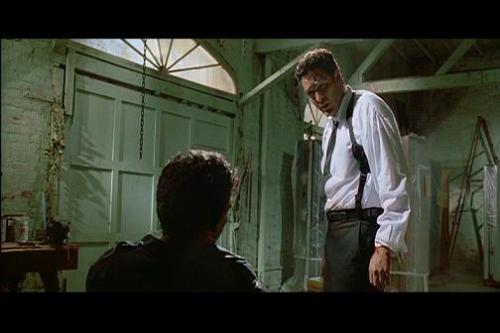The moment of fear - This is from the torture scene from 'Reservoir Dogs.'