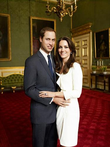 Prince William and Kate Middleton - After they became engaged this photo was taken.