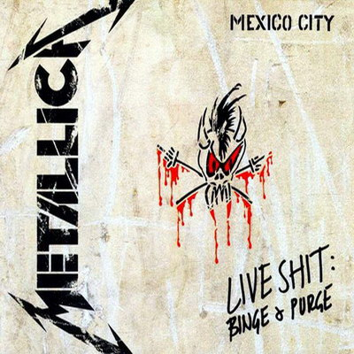 Mettalica - this is the album cover of the live album of metallica... ' live in mexico city' i love their songs.. and they haev been rated as one of the nest bands of the year... i love the song nothing else matters..totally amazing!!