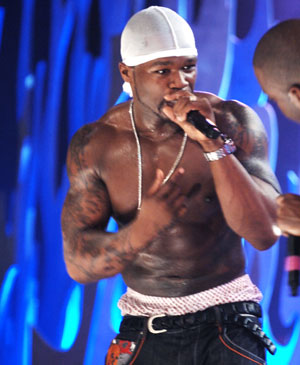 50 cents - this is the pic of 50 cent performing live.. he is an amazing rapper!!