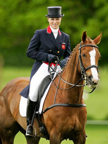 Zara Phillips - Princess Anne's daughter. She is quite the equestrian!