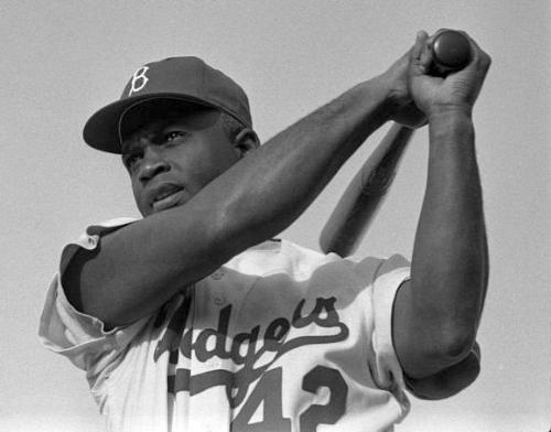 Jackie Robinson - He broke the color barrier in Major League baseball in 1947.