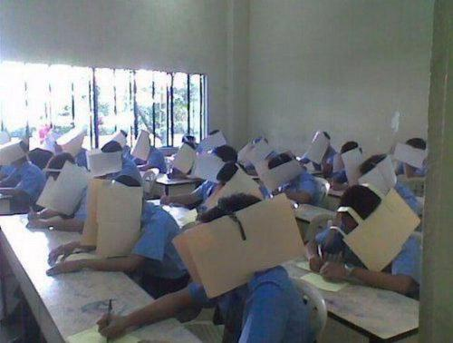 Cheaters never won on this method - Check out the photo. This can stop the problem in cheating.