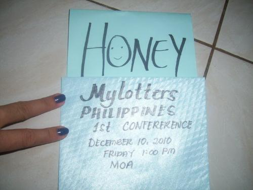 letter  - it was made by jaiho we put all our message to each other last mylot conference