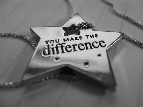 make a difference - an image of a make the difference charm for this category