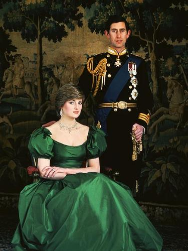Formal Portrait - The first formal portrait of Prince Charles and Princess Diana.