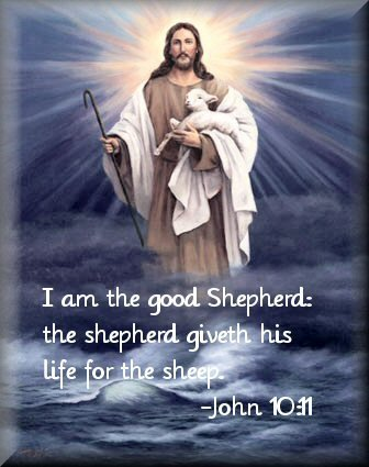 Jesus Is The Shepherd - Who gives his life for his sheep.