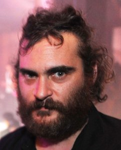 The beard and hair - This was Joaquin Phoenix looked like when he went through his so called 'rapper' days!