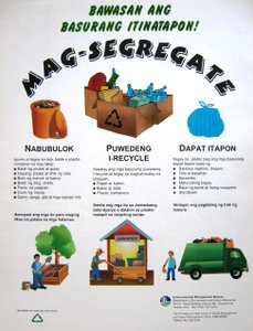 waste segregation - waste segregation is method that is use to help protect the environment.