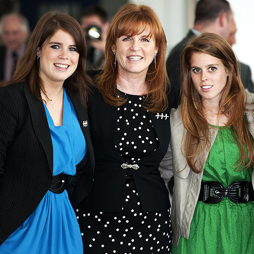Fergie and her daughters - Sarah Ferguson and daughters Princess Beatrice and Princess Eugenie.