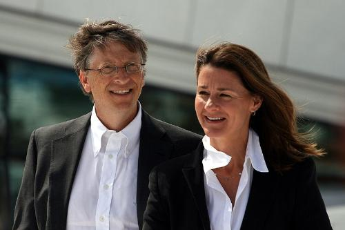 The Gates - Bill Gates and his wife Melinda. Can you say Microsoft?