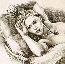 Penical drawing - The Penical drawing of Kate Winslet as Rose in 'Titanic'.