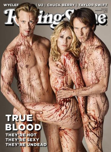 Nude on rolling stones - true blood cast