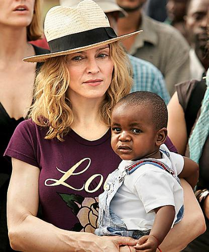 maddona who adopted - an image of madonna, who has adopted, for this category