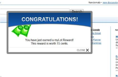 MyLot Reward - MyLot is a rewarding site in the Internet