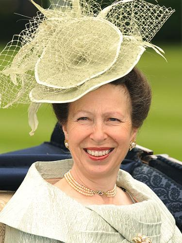 Princess Anne - Princess Anne heading to Ascot to watch the races. Anne is kind of homely looking woman but the hat is not bad!
