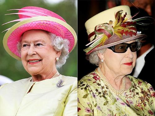 Queen Elizabeth - The Queen wore this hats not to long ago to a trip to Canada. I really like the pink one!