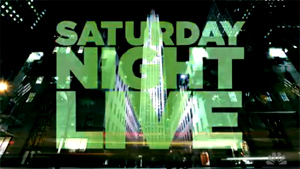 Saturday Night Live - The shows title card.