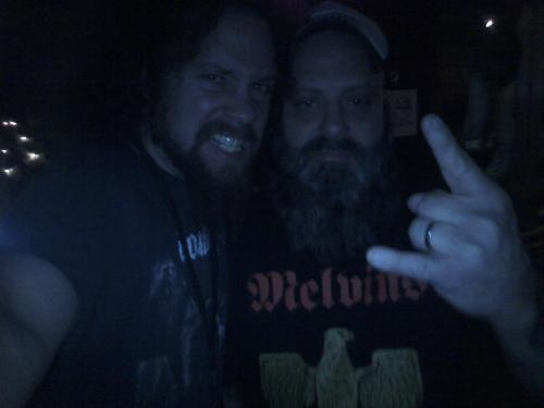 Me and Kirk - I saw him walking around before the show while I was getting a beer. 9-2-09 Atlanta