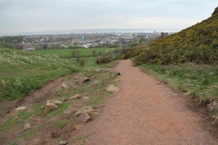 Walkway in Edinburgh - Way up to Arthur's seat