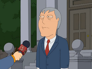 Adam West - On Family guy the actor Adam West plays a fictional version of himelf! He is quite funny!