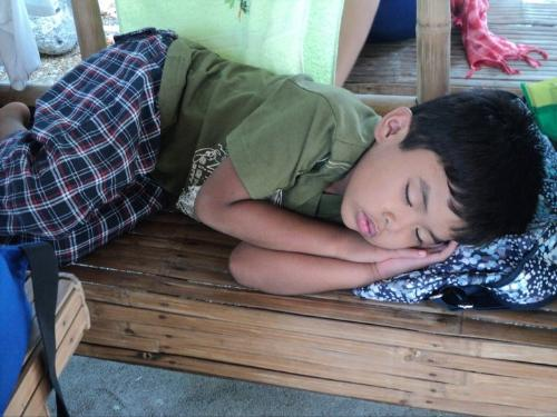 sleeping - sleeping on the bench