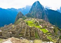 Machu Picchu - The lost city of Machu Picchu in South America. I think it is in Peru.