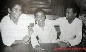 with school friends - at a very young age with his school friends