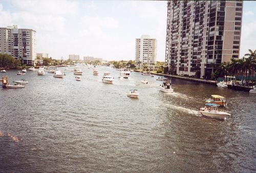 Fort Lauderdale Waterway - Nice day watching the boats in Fort Lauderdale, FL