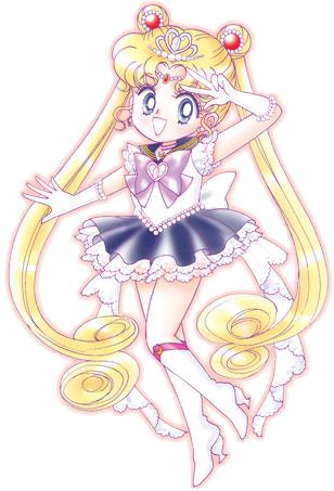 Super Sailor Moon - Manga picture of Super Deformed Super Sailor Moon, ain't she just cute???