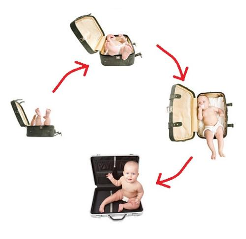 Travelling with baby - Many people like to travel, and even they have a few month old baby, they will still bring their baby along when they are traveling.