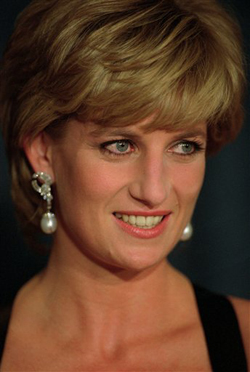 Princess Diana - I am sure she was watching Wiliam and Kate;' wedding today form up above!