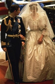Charles and Diana - Charles and Diana on their wedding day.