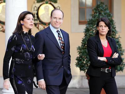 Monaco's royal family. - Princess Caroline,Prince Albert and Princess Stephanie.